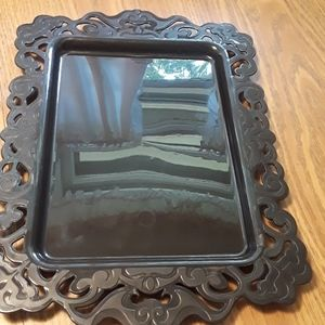 Halloween black plastic tray